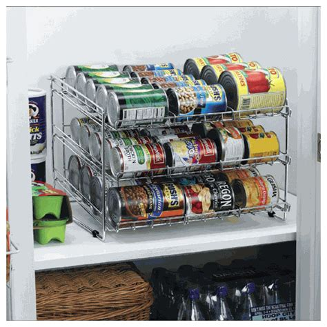 Deluxe Chrome Canned Food Storage Rack  Contemporary
