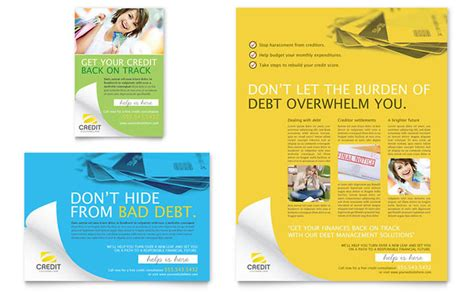 Counseling Brochure Templates Free by Consumer Credit Counseling Flyer Ad Template Design