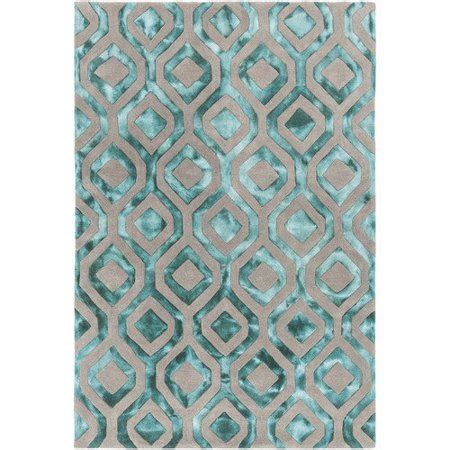 Teal And Gray Area Rug by Chandra Rugs Fran Tufted Teal Gray Area Rug Walmart