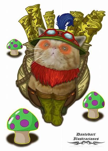 Teemo Legends League Cat