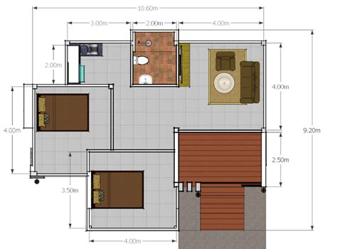 Modern  Bedroom Single Story House Pinoy House Plans