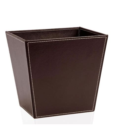 corbeille de bureau corbeille à papier de bureau en cuir marron wadiga com