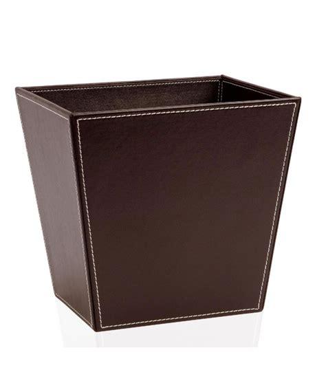 porte papier bureau corbeille à papier de bureau en cuir marron wadiga com