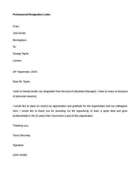 resignation letter formats templates