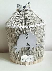 Sapin En Papier Plié : cage oiseaux sculpture livre pli saint valentin origami ~ Melissatoandfro.com Idées de Décoration