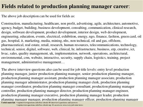 Questions For Production Manager And Answers by Top 10 Production Planning Manager Questions And