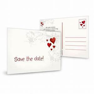 Save The Date Karte : save the date karte mit blumenranke und roten herzen ~ A.2002-acura-tl-radio.info Haus und Dekorationen