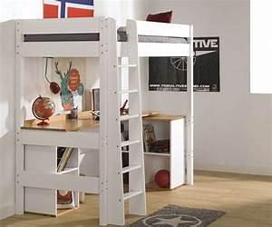 Hochbett Mit Babybett : kinder hochbett clay aus massivholz mit matratze ~ Orissabook.com Haus und Dekorationen