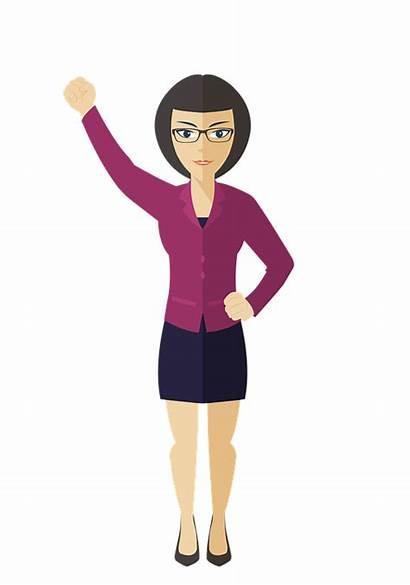 Woman Clip Cartoon Clipart Female Glasses Femme