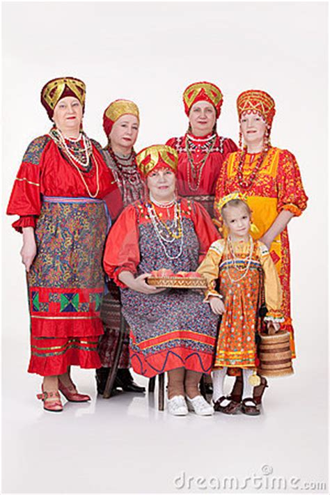 women  girl  russian traditional clothing stock image