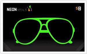 Neon Decals Neon Glasses First Decal Neon Green Aviators