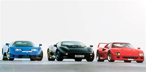1994 Group Road Test Bugatti EB 110 vs. Ferrari F40 and ...