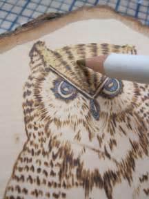 Owl Wood-Burning Patterns