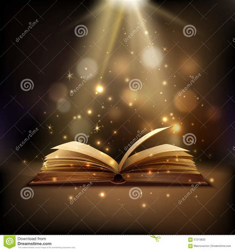 magic book background stock vector image