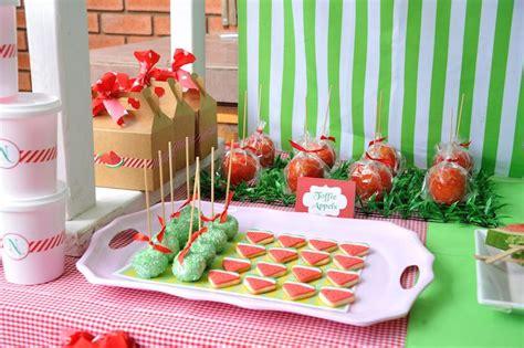 kara 39 s party ideas watermelon fruit summer girl 1st kara 39 s party ideas strawberry and watermelon themed