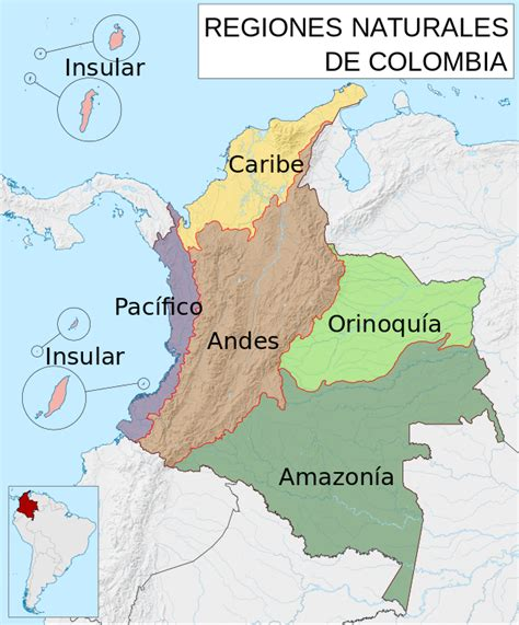 file mapa de colombia regiones naturales svg wikimedia commons