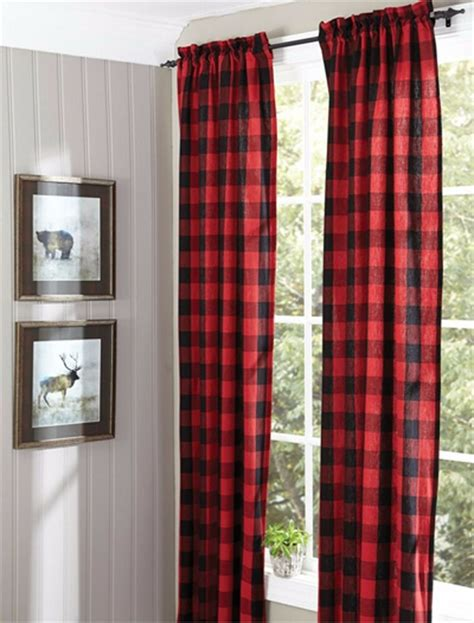 Plaid Drapery Panels by Park Designs Buffalo Check Panel Pair Lined Drapery 84 Quot Or