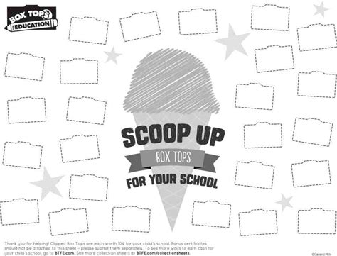 box top for education collection sheets box tops for education