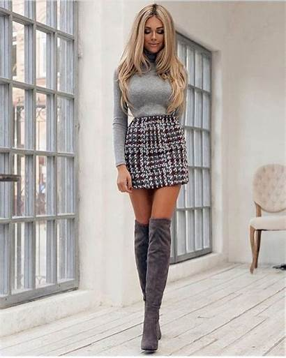 Skirts Outfits Skirt Boots Outfit Short Wear