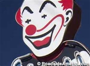 Clown Circus Liquor Neon Sign North Hollywood California
