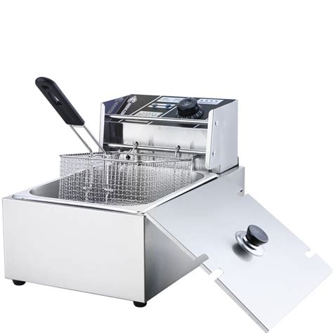 deep electric frying pan fry machine fried fryers commer