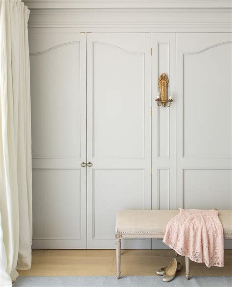 pale gray closet doors french girls room