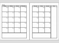 2 Page Monthly Calendar Template Beautiful Template