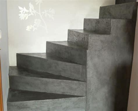beton cire sur escalier beton sol et escalier b 233 ton cir 233 unifient l espace