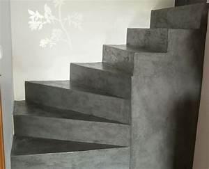 Recouvrir Marche Escalier : sol et escalier b ton cir unifient l 39 espace ~ Premium-room.com Idées de Décoration