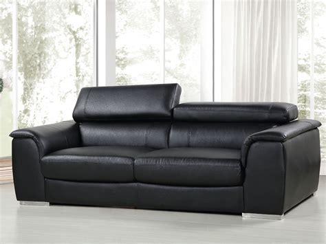 canape pvc canape cuir reconstitue pvc bari 3 places noir 86304 86306