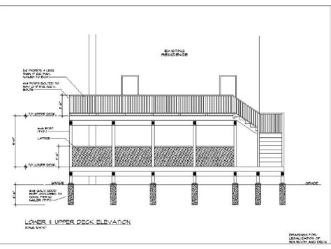 Deck Drawings Deck Construction Drawings Deck Design And