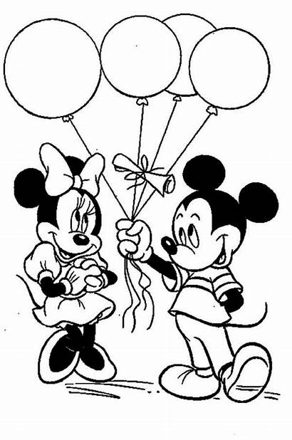 Minnie Mickey Mouse Coloring Pages Printable Disney