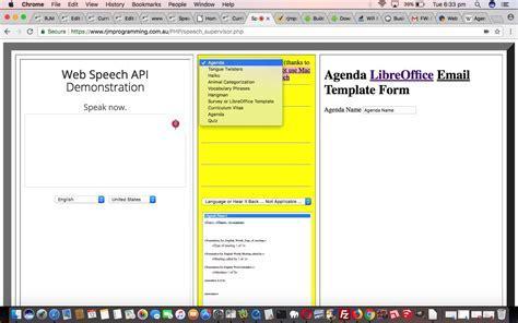 agenda speech  text  speech libreoffice wizard