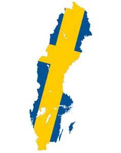 Sweden Flag Map