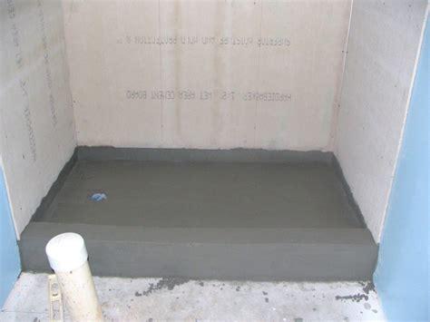 finish  basement bathroom mortar bed tile shower pan