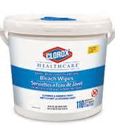 ccc01309 01309 clorox bleach wipes tub 2x110ct cs