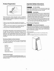 Frigidaire Fcfs201lfb3 User Manual Freezer Manuals And