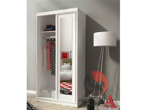 White Wardrobe With Mirror by Alaska 100 Cm White Sliding Door Wardrobe With Mirror