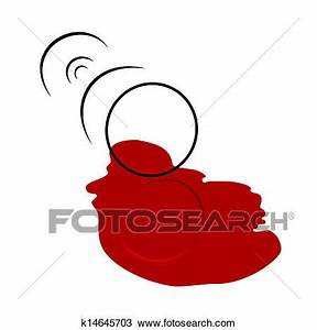 Clipart of Spilled Wine Glass k14645703 - Search Clip Art ...