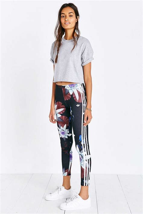 Adidas Lotus Print Legging - Urban Outfitters | Good Sport | Pinterest | Urban outfitters ...