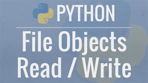python tutorial file objects reading  writing