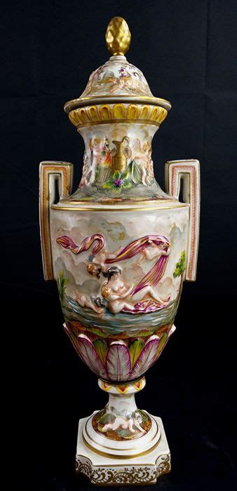 Large Vase With Lid by Capodimonte Large Vase With Lid 1 Porcelain Catawiki