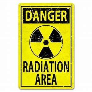 Danger Radiation Sign, Danger Sign, Radiation Sign, Metal
