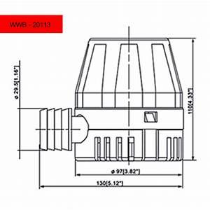 800 Gph Bilge Pump - 12v - Dc - 1 In