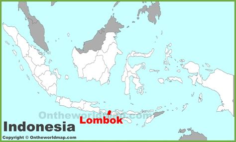lombok location   indonesia map
