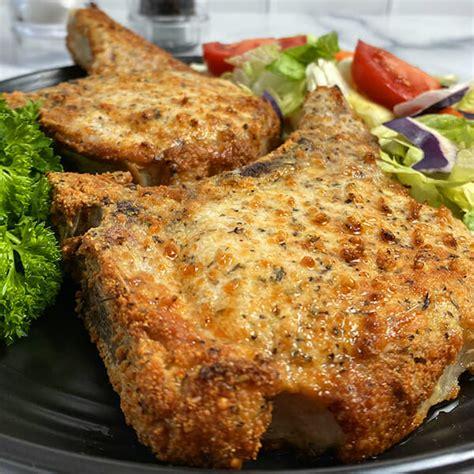 chops pork fryer air damn parmesan garlic recipe recipeteacher