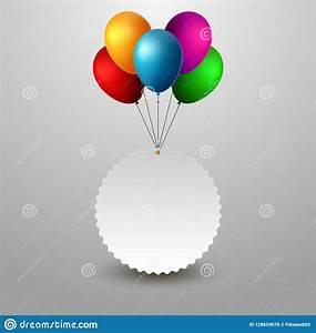 Happy Birthday Balloons Banner Cartoon Vector