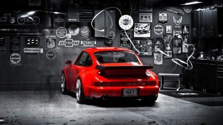 porsche cars selective coloring  turbo wallpaper