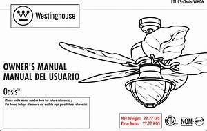 Westinghouse Oasis 48 Inch Five Blade Indoor Outdoor