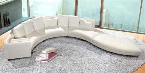 contemporary curved sectional sofa contemporary white s shaped curved leather sectional sofa